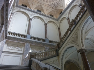 The massive staircase at Palazzo Braschi was like an Escher painting.