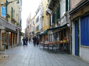 "This is ""our"" neighborhood in Venice. A greengrocer and a few pubs & cafes make it convenient with a residential feel."
