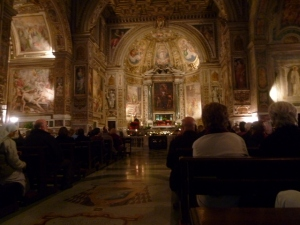 The magnificent Church of Santa Susanna. There has been a place of worship here since 330 A.D.