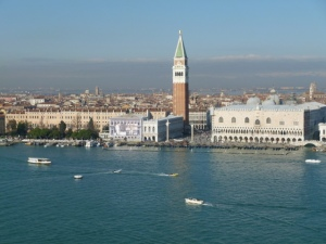 5 minutes from San Marco on a vaporetto, ascend the bell tower at San Giorgio Maggiore and take in this view.