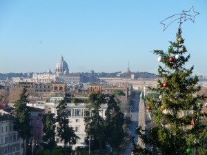 A view from Piazzale Napoleone. across P.za del Popolo to the Vatican. Bellissima!