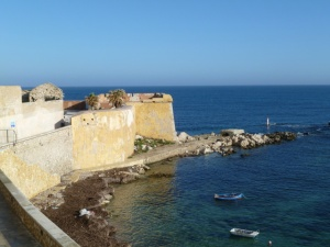 View from apartment, Trapani