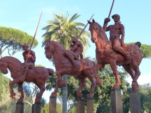 Warriors on horseback