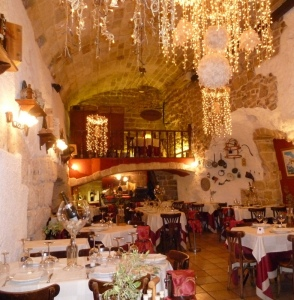 Ristorante Antiche Mura within the old walls of Polignano a Mare.