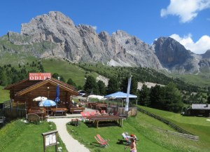 Mountain rifugio in the Dolomites