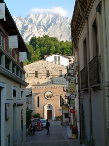 Another cute Italian village, nestled in the Gran Sasso.