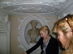 Rita with bust of Julius Caesar, who had a palace on the same site, it seems.