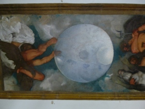 Only Caravaggio ever painted on a ceiling.