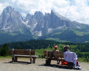 View across the Alpe di Siusi from the Mont Seuc lift area. This is the view that made me fall in love with the area.