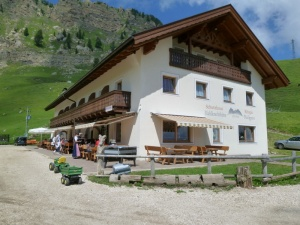 Rifugio means a place to refresh, eat, even take a room for the night.