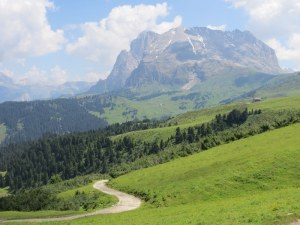 The varied landscape of the Alpe di Siusi.