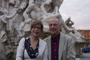 Ric and I at Piazza Navona. Photo by Derek