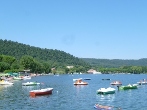 Freshwater lake in Lazio, peaceful, uncrowded, great lakeside dining.