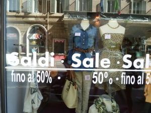 "In July and August ""i saldi"" are everywhere. And prices get lower as the weeks go by...."