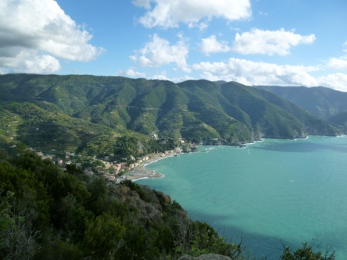 Monterosso from above.