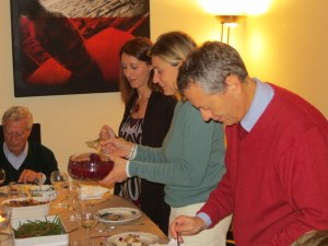 Eleonora, Stefania and Francesco share the cranberries