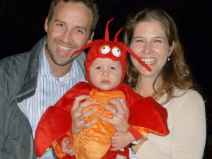 Baby lobster and family