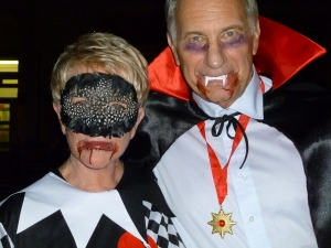 Ambassador Phillips and his wife, Linda Douglass, were good sports!