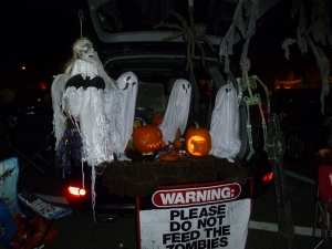 SUVs and vans work great for Trunk-or-Treat!