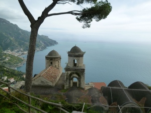Iconic Ravello view from Villa Rufolo.