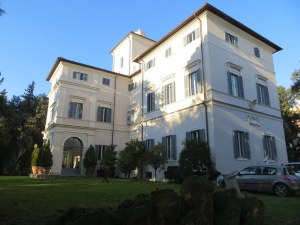 The magificent Villa Aurora, on a hill just a few steps off Via V. Veneto.