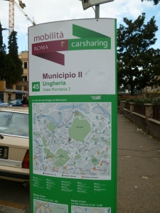 Our almost-neighborhood Car Sharing point.