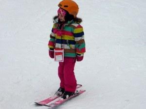 Tine skier in Murren