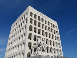 "Iconic EUR ""Square Coliseum"", unoccupied but rumored to be destined as Fendi headquarters."