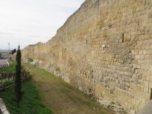 The old wall surrounding Tarquinia.