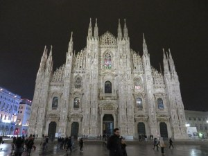 The Duomo in Milano, during a brief rain-free moment in the evening. It truly is spectacular!