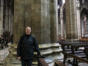 The pillars in the Duomo of Milan are about the size of sequoias.