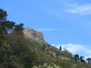 The castle high above us. The hike was from sea level to about 1300 feet.