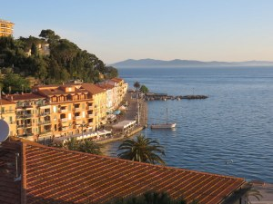 Early morning view from our room in Porto Santo Stefano.