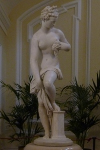Venus After the Bath, a stunning nude by Giambologna, on display at the U.S. Embassy in Rome.