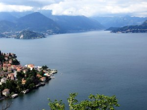 View to Varenna from the trail.
