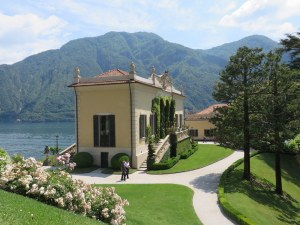 Villa Balbianello loggia overlooking the lake.