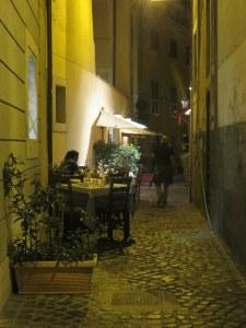 Delightful, serene dining on a soft summer night