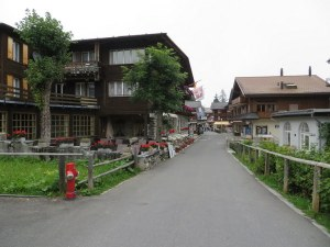 Murren is a very pretty, serene town, but not easy to reach: 5 trains and a gondola lift from Rome to Murren.
