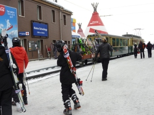 Kleine Scheidigg is the jump off point for skiing in winter, and the train to the Jungfraujoch year-round.