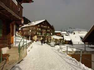 Murren in winter.