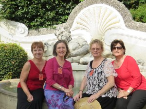 Holly, Victoria, Mary Ellen and Patricia, great new friends!