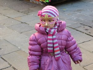 Not yet Carnivale, but this little cutey has her mask.