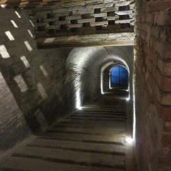 The wine used to be aged underground and hauled up this ramp in small casks carried by the monks.
