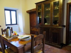 Part of the main room in our Tuscan apartment.