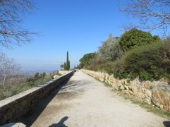 Lovely path in Pienza. The sun helped chase away the chill, a little.