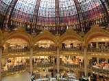 The famous department store, Galeries Lafayette with its dome. There is a fabulous view from the rooftop terrace.