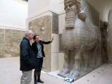Our guide, Emmanuelle, explains the Assyrian collection.