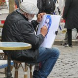 An artist in Montmarte.