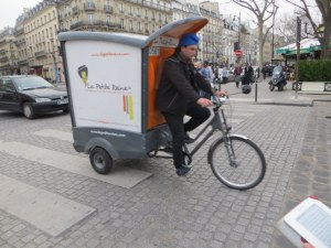 Paris delivery vehicel.