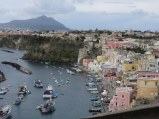 From the same location, Ischia looms in the distance.